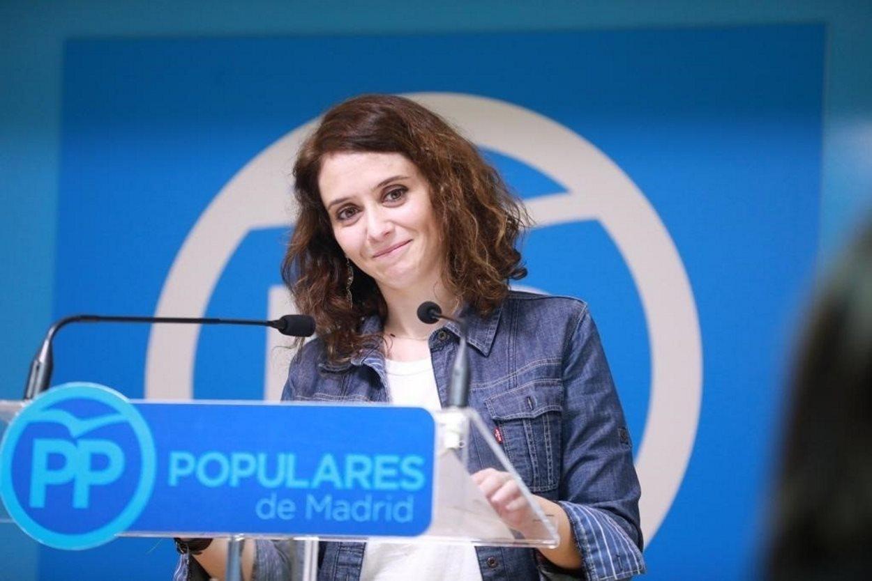La candidata del PP de Madrid a la Comunidad de Madrid, Isabel Díaz Ayuso. EP