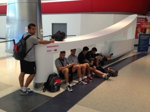 En el aeropuerto de Philadelphia