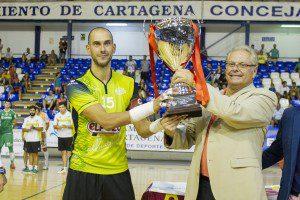 Cartagena, 30-08-2015, Final Copa Presidente FFRR, entre los equipos Plasticos Romero Cartagena VS El Pozo Murcia, Pabellon Central.