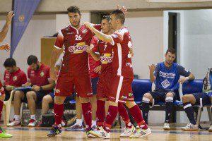 San javier, 19-08-2015, Pretemporada, Partido benefico a favor Aidemar Y Prometeo, encuentro entre el Pozo Murcia vs Palma Futsal, Pabellon Principe Felipe.
