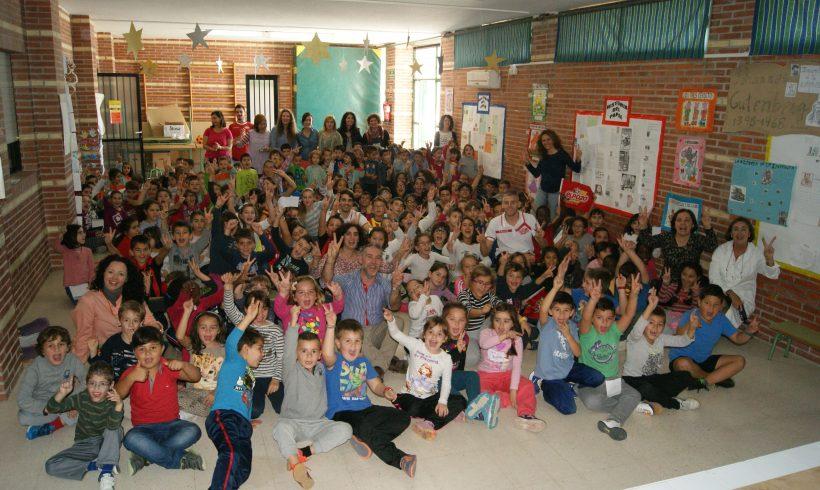 Visita de Miguelín y Fabio al colegio El Parque de Las Torres de Cotillas