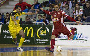 Murcia, 27-11-2015, LNFS, Campeonato 1 Division Futbol Sala, encuentro entre ElPozo Murcia vs Burela, Palacio de los deportes de Murcia, Liga regular, Jornada 13, Temporada 2015-2016.