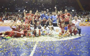 Sevilla 07-05-2016, Final VI Copa de S. M El Rey, entre los equipos ElPozo Murcia vs Palma Futsal, Palacio de los deportes San Pablo.