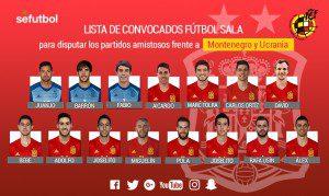 Convocatoria España para Montenegro