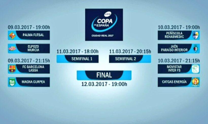 Sorteo COPA LNFS| Palma Futsal vs ElPozo Murcia, duelo de Cuartos para abrir el torneo