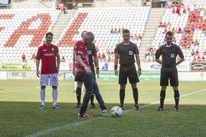 Campeonato de Liga, 2 Division B, Grupo IV, Liga regular, encuentro entre Real Murcia vs Extremadura UD, Jornada 38, Estadio Nueva Condomina, 14-05-2017, Murcia