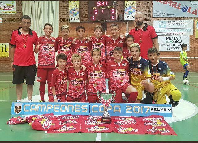 Copa FFRM|Los equipos PreBenjamín, Alevín e Infantil ElPozo FS se alzan con las Copas Federación