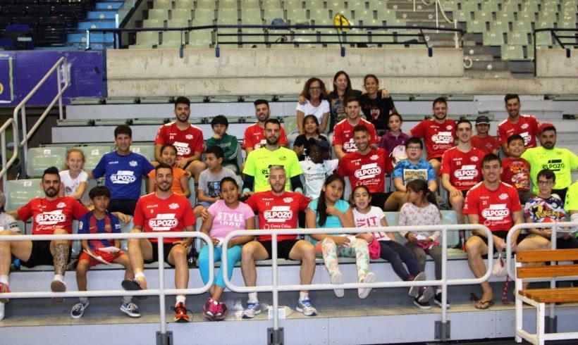 ElPozo al Cole| Los escolares del CEIP San Andrés animan a la plantilla de ElPozo Murcia ante las Semifinales