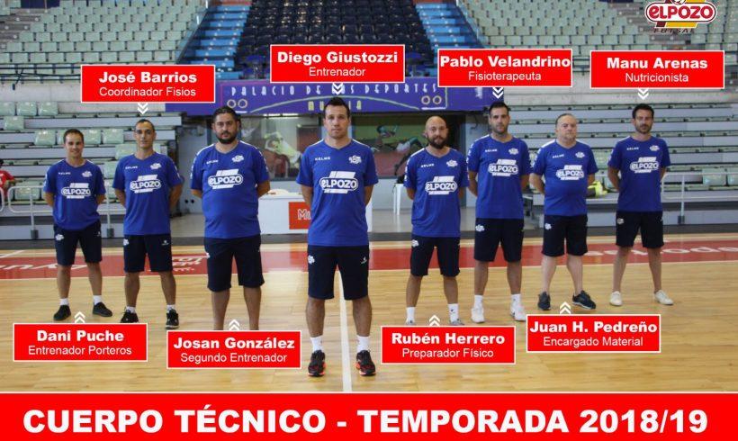 Cuerpo Técnico ElPozo Murcia| Rubén Herrero y Pablo Velandrino principales novedades 2018-19