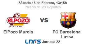 JORNADA 22 LNFS| A la venta las entradas ElPozo Murcia FS vs Barça Lassa con promoción especial ON LINE