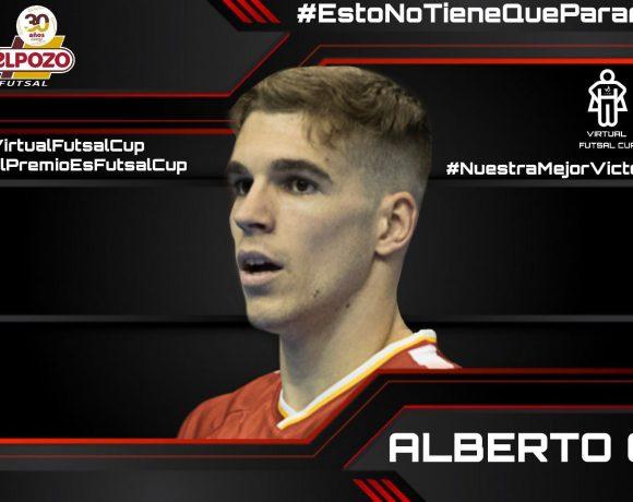 TORNEO VIRTUAL FUTSAL CUP  Alberto García representará a ElPozo Murcia Costa Cálida