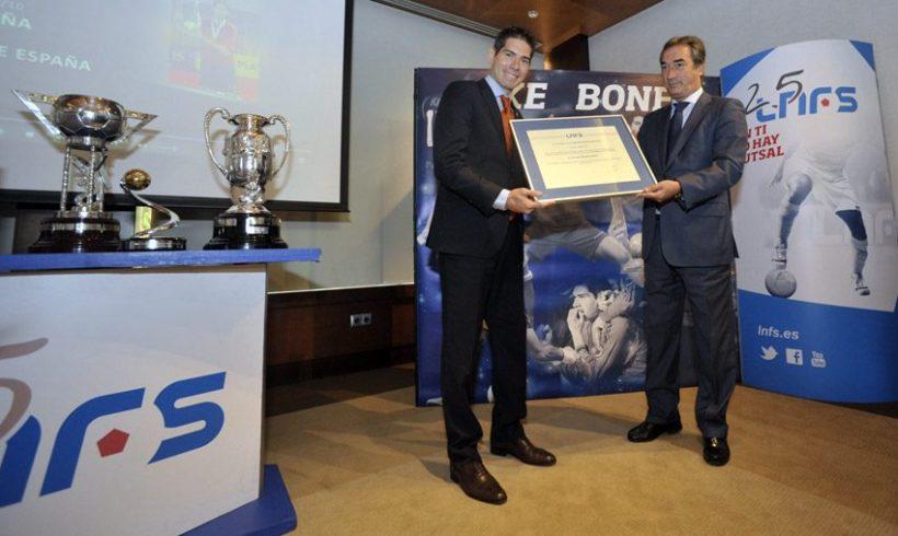 Kike Boned, ya ejerce de embajador de la Liga Nacional de Fútbol Sala