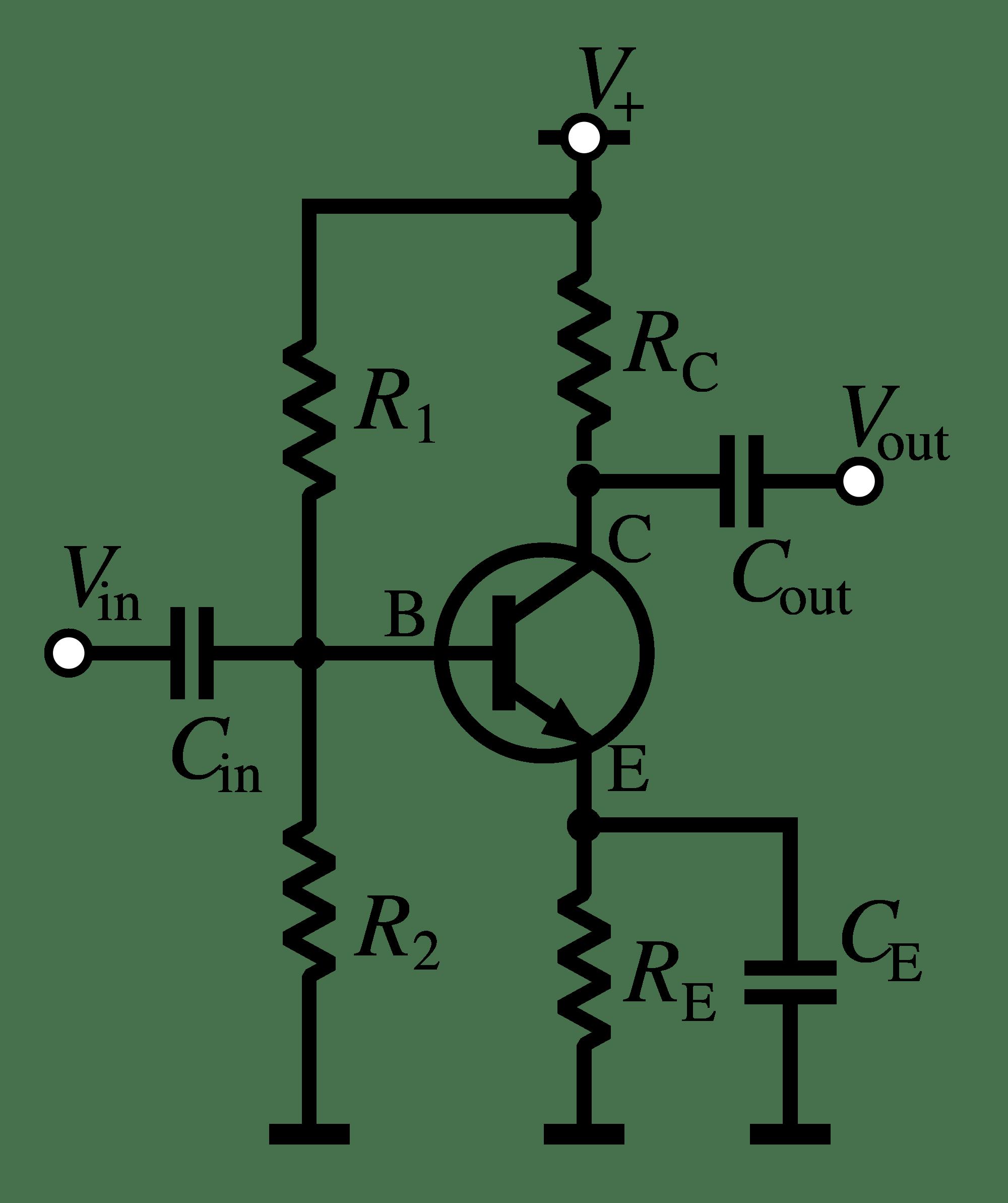 Transistor As An Amplifier Common Emitter Amplifier