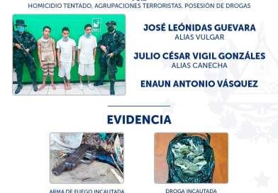 Capturan a presuntos delincuentes que atentaron contra elementos de la PNC