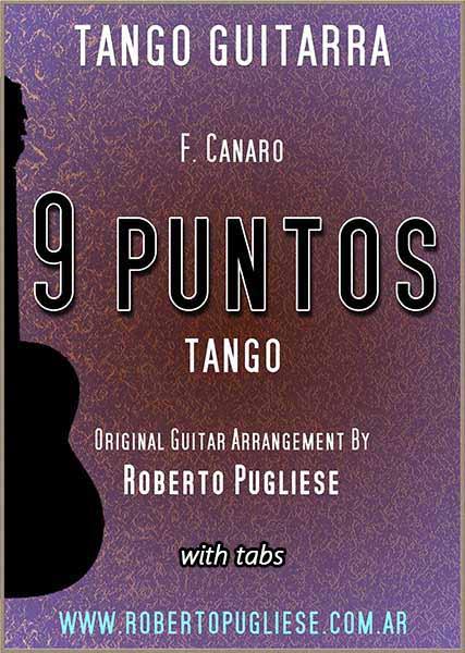 Nueve puntos tango 🎼 partitura de guitarra