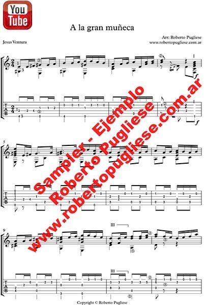 A la gran muñeca 🎼 tango guitarra con video y Mp3 gratis.