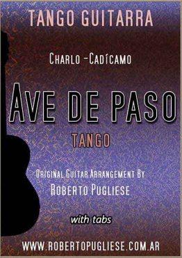 Ave de paso 🎼 tango guitarra partitura