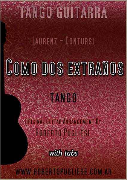 Como dos extraños 🎼 partitura de tango guitarra