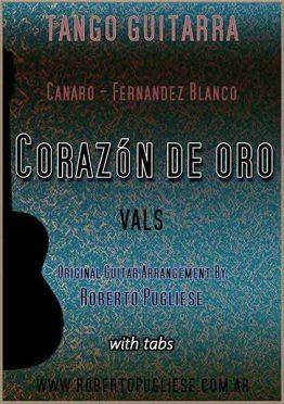 Corazon de oro 🎼 partitura del vals criollo para guitarra