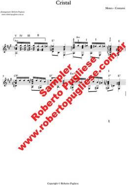 Cristal 🎼 partitura del tango para guitarra