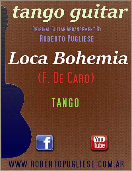 Loca bohemia 🎼 tango partitura guitarra.