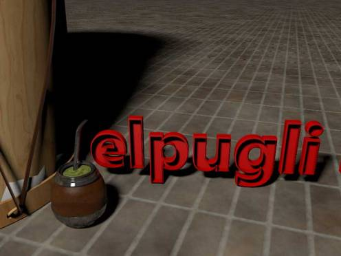 3D Zamba para olvidar - detalles del video de Roberto Pugliese. Bombo y mate