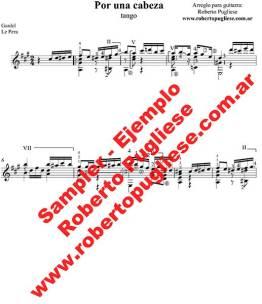 Por una cabeza 🎼 partitura del tango en guitarra. Con video