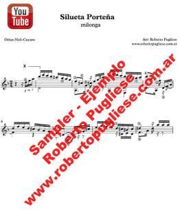 Silueta porteña 🎼 partitura de la milonga en guitarra. Con video y mp3 gratis