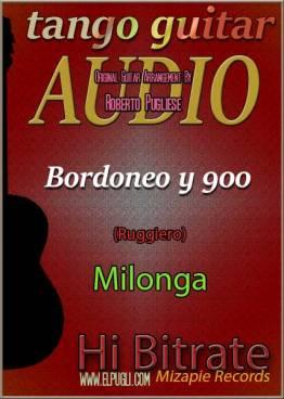 Bordoneo y 900 🎵 mp3 milonga en guitarra. Con partitura