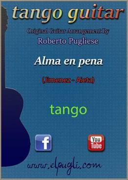 Alma en pena 🎼 tango partitura de guitarra. Con video