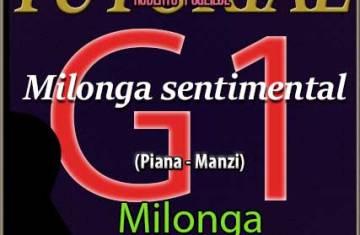 Tapa del pdf Milonga sentimental 4 guitarras. Primera guitarra o primera voz.