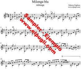 Milonga blu 🎼 milonga partitura de guitarra.