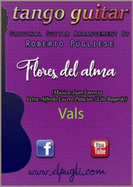 Flores del alma 🎼 partitura del vals en guitarra. Con video