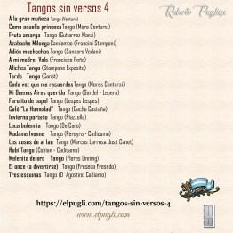 Tangos sin versos 4 💿 20 tracks de tango instrumentales en guitarra