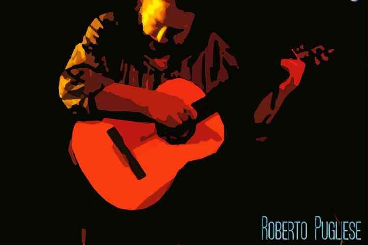 Tapa del cd Tangos sin versos 6 de Roberto Pugliese. 20 tangos seleccionado en guitarra solista.
