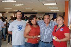 Jorge Aguilar, Shamel Díaz, Miguel Dzul y SheilaSánchez.