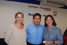 Corina Santana, Manuel Pech y Luz María Gonzales.