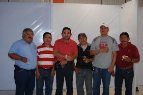 Abelardo Villar, Pablo Encalada, Manuel Ancona. Leonel Arjona, Joel López y Jeremías Caamal.