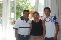 Francisco Javier Nah, Paty Ocejo y Gabriel Salgado.