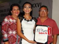 Elsi Marlene Carvajal, Karla Sosa Carvajal y Damián Sosa