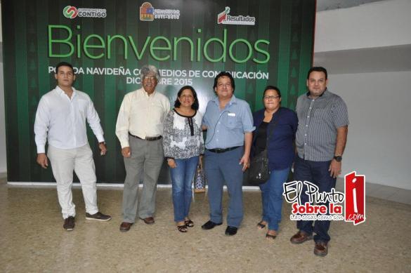 Eddy Muñoz, José Ángel Modesto, Silvia Hernández, Oscar Xool. Alejandra Carreón y Joseangel Muñoz.