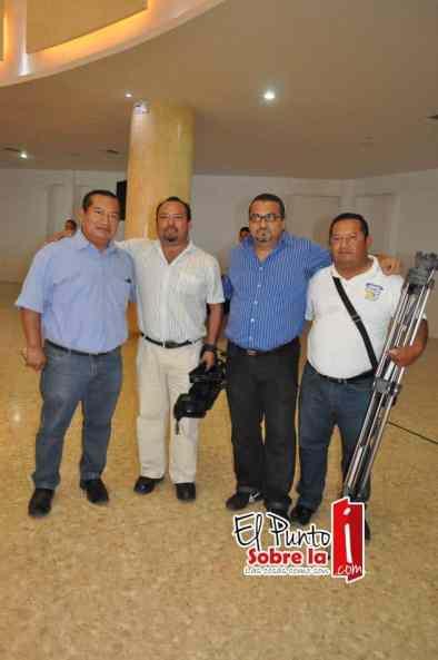Delfio Xool, Ramon Cabrera, Roberto Cetina y Julio Chi.