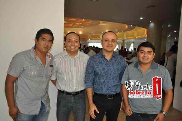 Moisés Gómez, Juan Palma, Roberto Cervera y Hugo Salazar.
