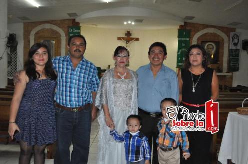 Con la familia López Interian.