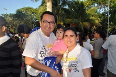 Aníbal Montalvo Pérez, Fernanda Montalvo Castillo y Zenaida Mejía Gómez.