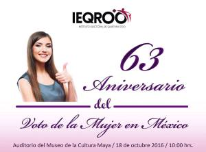 IEQROO Voto De La Mujer En Mexico