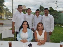 Ramón Vargas Maldonado, Javier Osorio Caro, Juan Carlos Moo Yah, Jimmy Joel Moo Chi, Elda María Xix Euan y Juli Pinto Domínguez.