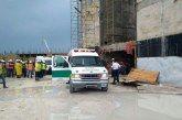 Trabajadores de la construcción resultan lesionados por derrumbe de obra