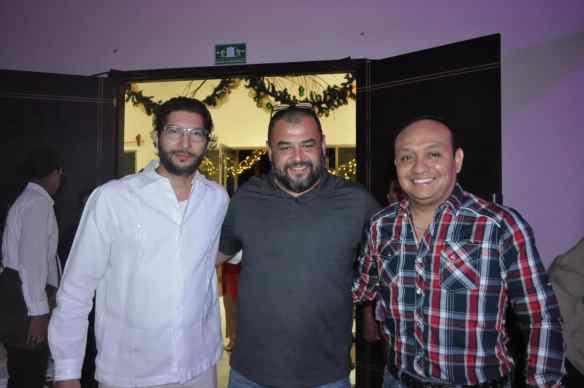 Luciano Núñez, Carlos Fabro y Juan Palma.