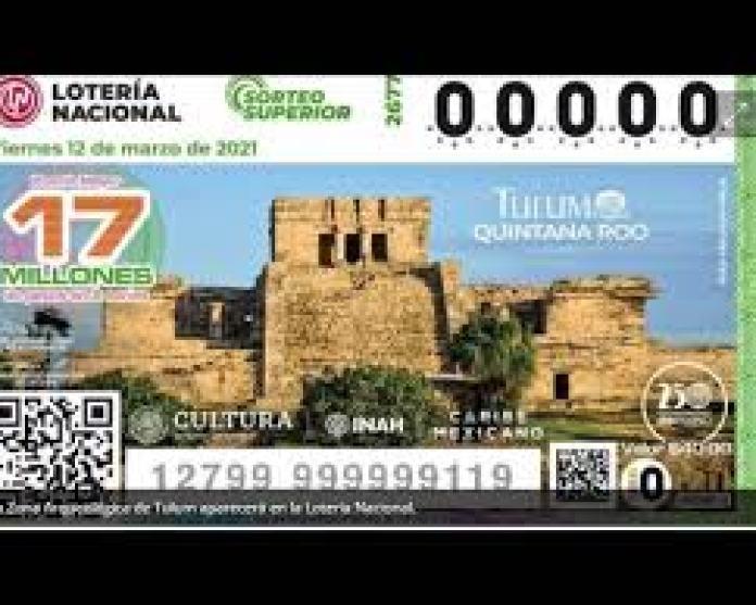 Presentan el billete de Lotería Nacional alusivo a Tulum; mañana sale a la  venta